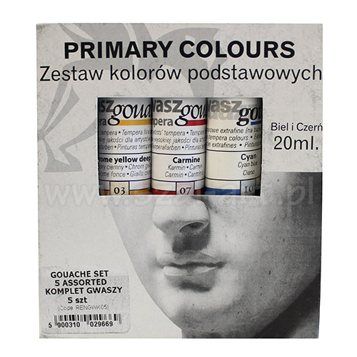 Renesans Gouache set of 5 gouaches 20ml