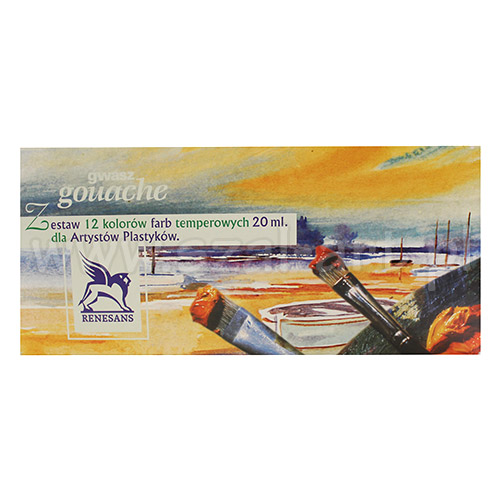 Gouache Renesans set of 12 gouaches 20ml