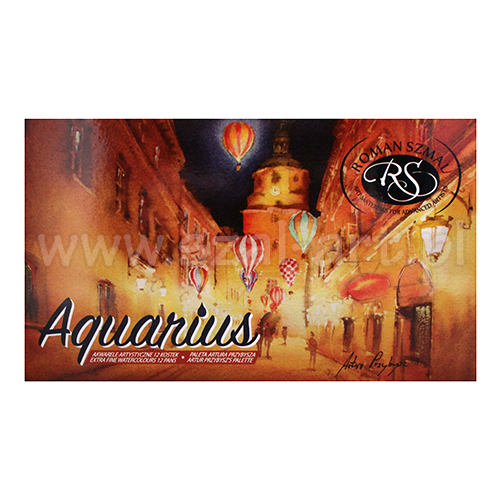 Szmal aquarius set of 12 watercolors in cubes Artur Przybysz