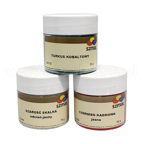 Szmal pigments for paints studio