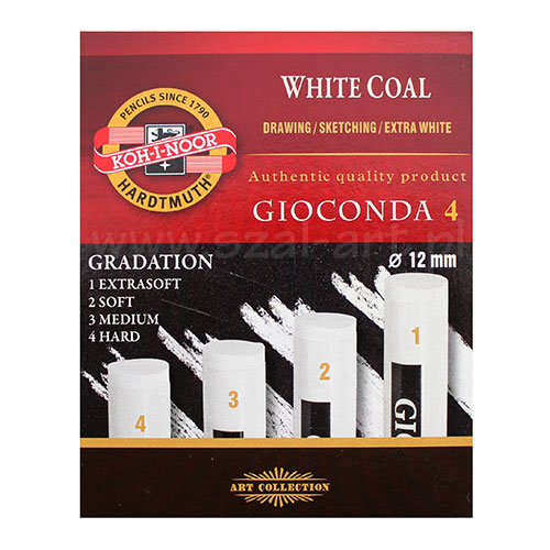 Koh-i-noor gioconda set of 4 pressed white coals