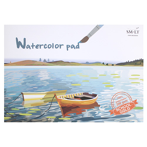 Blok SM-LT watercolor pad gold education A4 200g 20 arkuszy