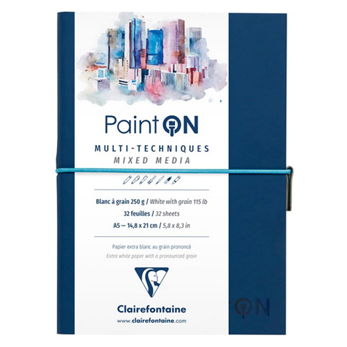 Blok Clairefontaine paint on mixed media A5 250g 32ark blue