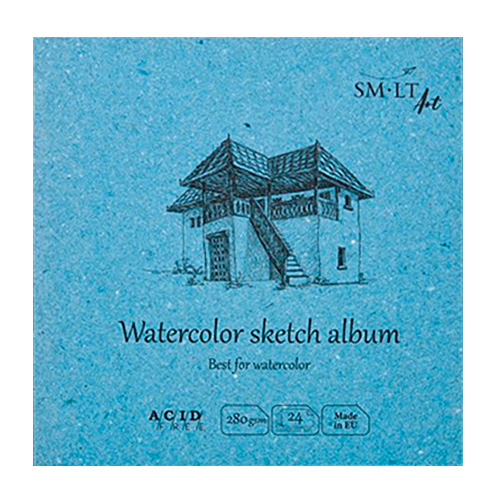 Blok SM-LT art watercolor sketch 14x14cm 280g 24ark