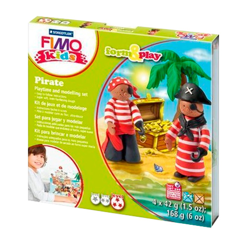 Fimo kids pirate form&play zestaw modelin 4x42g
