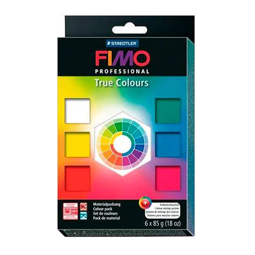 Fimo professional true colours zestaw 6x85g