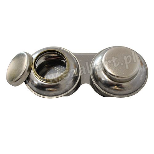 Metal double lockable container 2 x 5,5cm