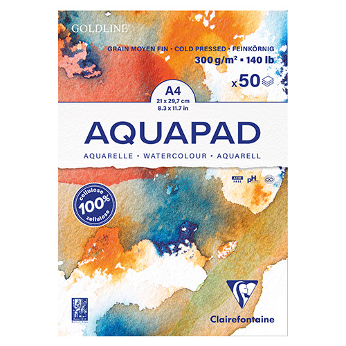 Blok Clairefontaine goldline aquapad watercolour 300g